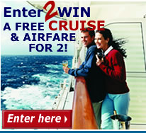 Win a Free Cruise and Airfare for 2!